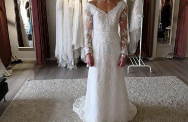 Linn Gustafsson Fitness weddingdress