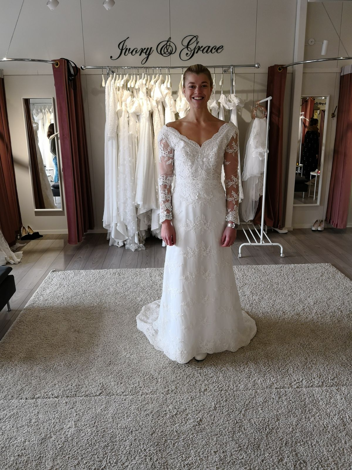 Linn Gustafsson Fitness weddingdress