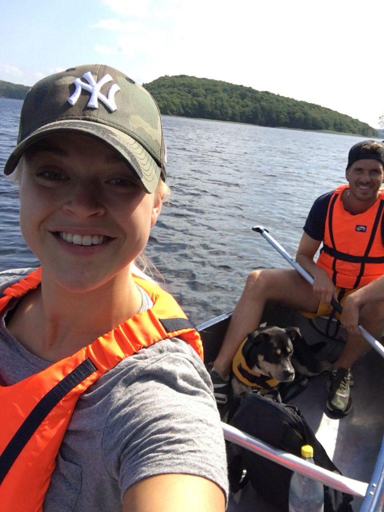 Linn Stenholm fitness summer canoe