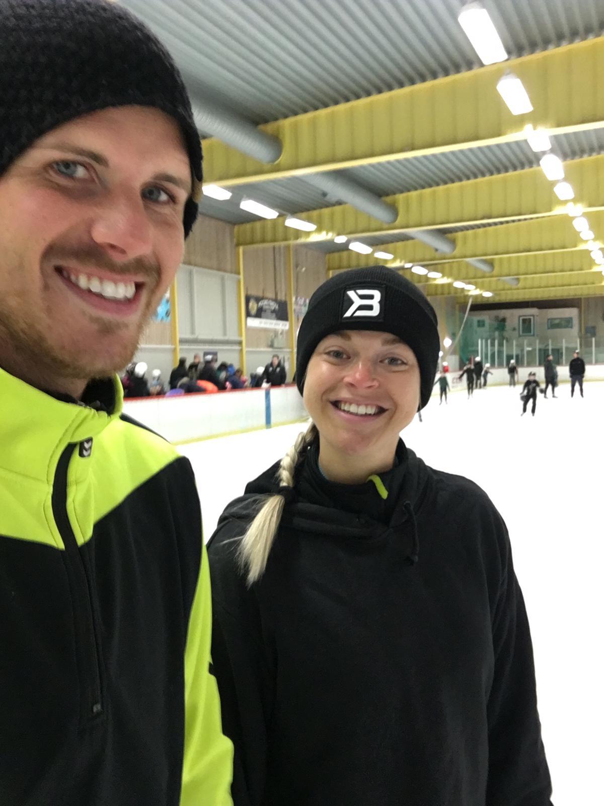 Linn Stenholm fitness ice skating