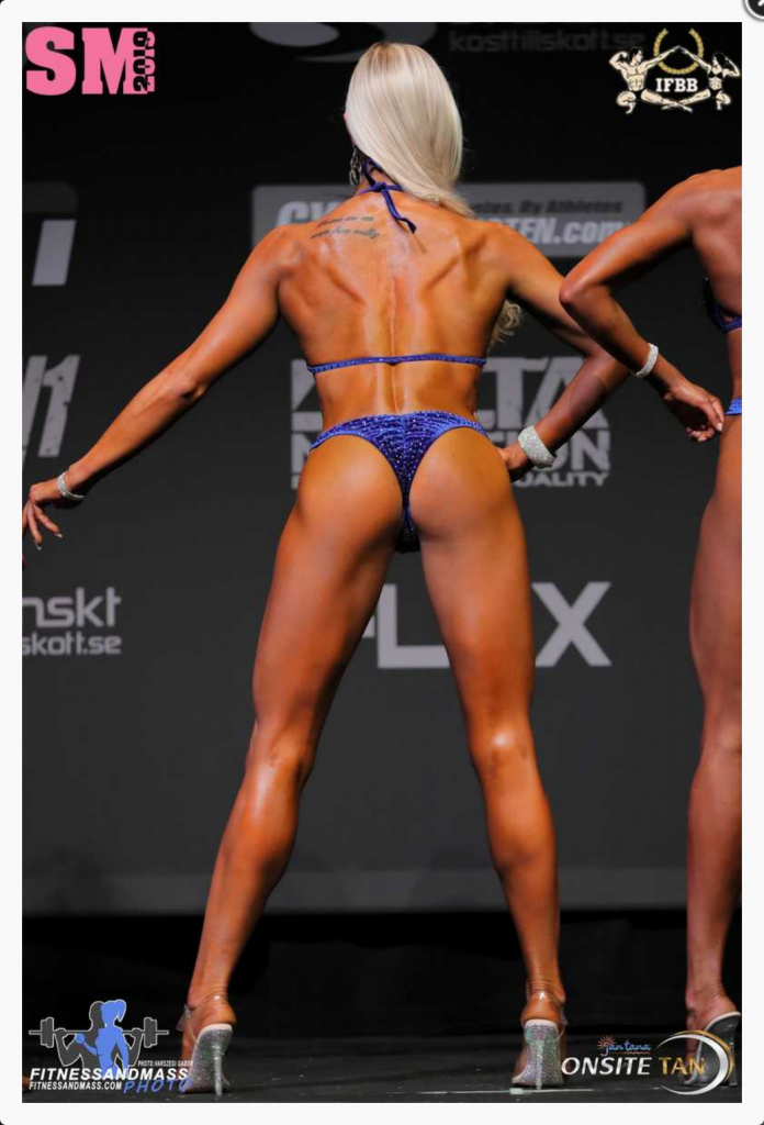 Linn Stenholm bikini fitness SM+169 Redcon1