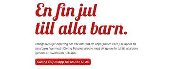 Linn Stenholm Giving people jul