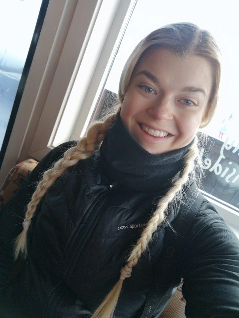 Linn Stenholm skiing in Hemsedal NORWAY