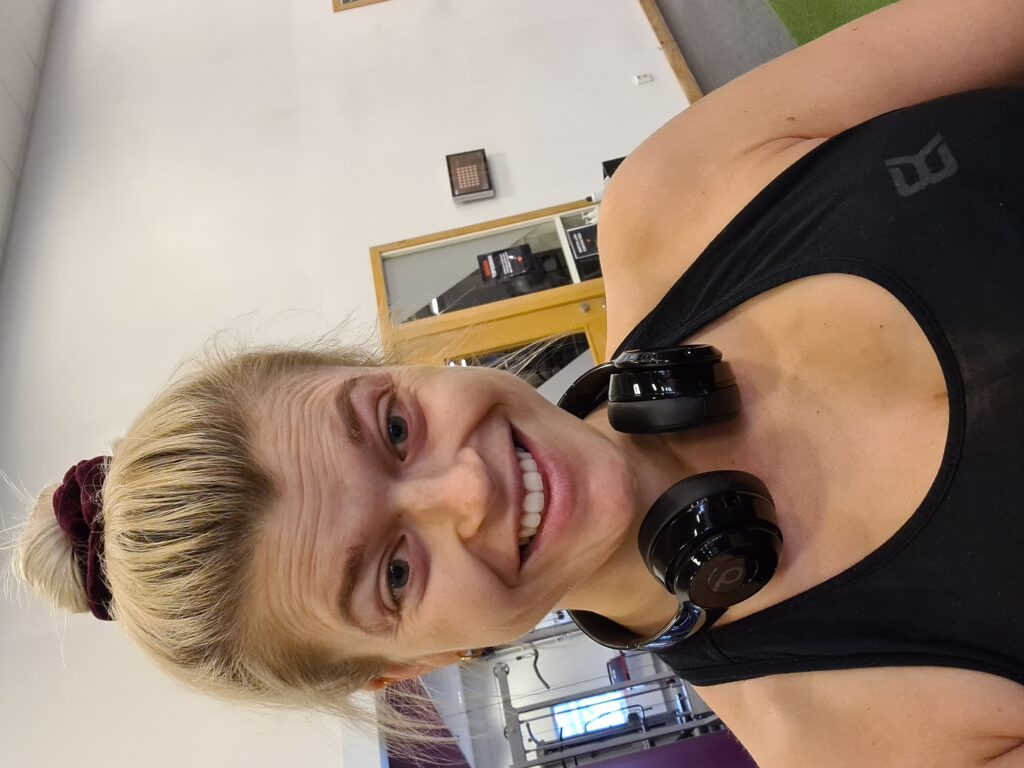 Linn Stenholm back to the gym