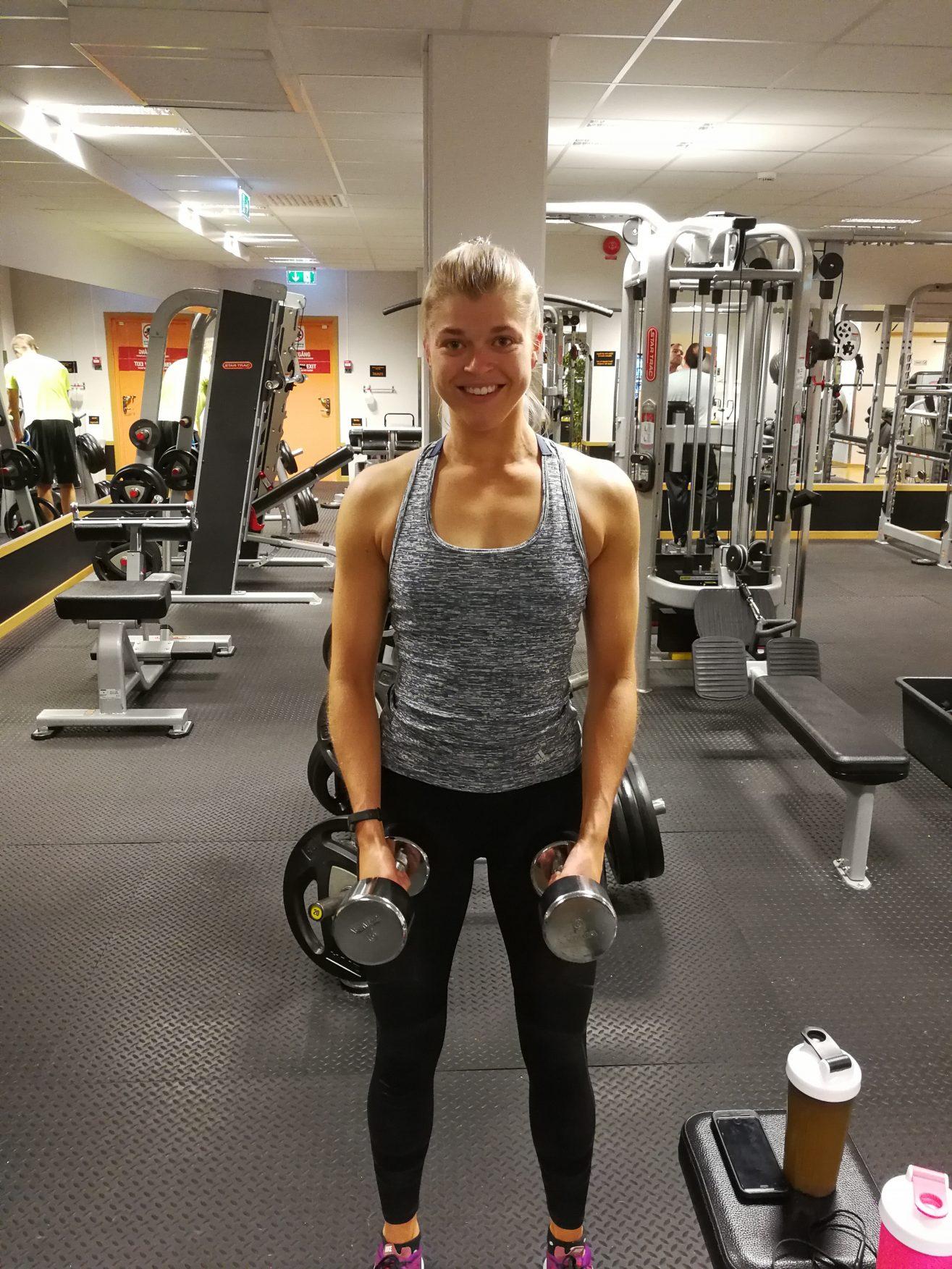 Linn Gustafsson Fitness workout Sweden